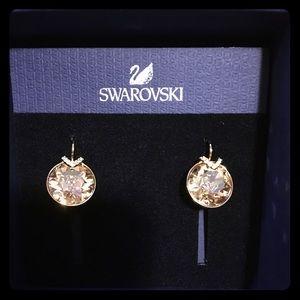 1eb1b9d57 Swarovski Jewelry - SWAROVSKI EARRINGS, LARGE, GOLDEN, GOLD PLATE